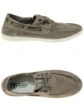 chaussures en toile natural world nautico enzimatico beige