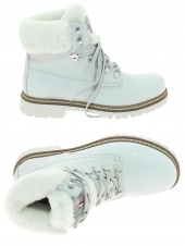 chaussures montantes fourrees new italian shoes 1715412/2 blanc