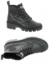 boots palladium pallabase leather noir