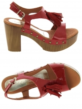nu-pieds style ville patricia miller 843 rouge