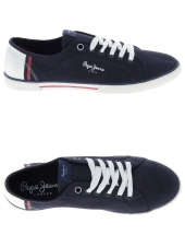 baskets mode pepe jeans pms30354 bleu