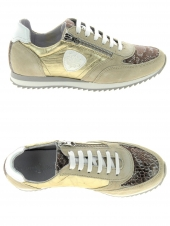 baskets mode philippe morvan richie v6 comby beige