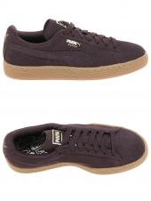 baskets mode puma suede c violet