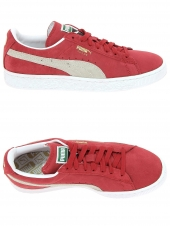 baskets mode puma suede rouge