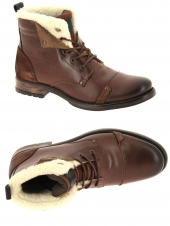chaussures montantes fourrees redskins youdine marron