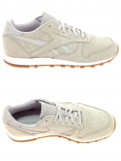 baskets mode reebok cl leather clean beige