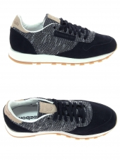 baskets mode reebok cl leather ebk noir