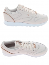 baskets mode reebok cl lthr hw rose