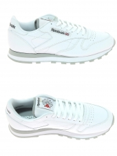 baskets mode reebok cl lthr blanc