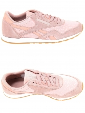baskets mode reebok cl nylon slim tx rose