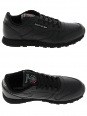 baskets mode reebok classic leather noir