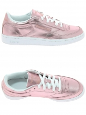 baskets mode reebok club c85s shin rose
