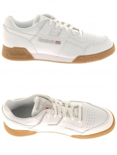 baskets mode reebok workout plus blanc