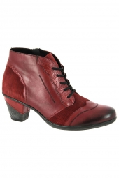 bottines de ville remonte d8789-35 rouge