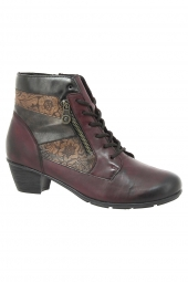 bottines de ville remonte r7570-35 g bordeaux