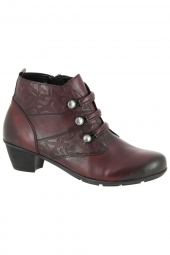 bottines de ville remonte r7577-35 g bordeaux