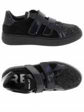chaussures basses replay police noir