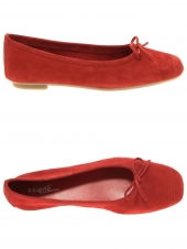 ballerines reqins harmony peau cc rouge