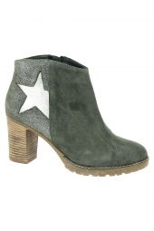bottines fashion reqins babel vert