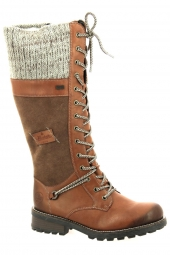 bottes fourrees rieker z0442-24 marron
