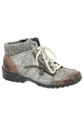 bottines casual rieker l4631-24 marron