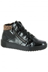 bottines casual rieker m6434-01 f? noir