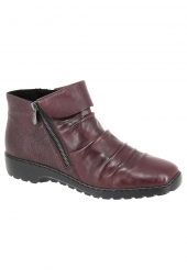 bottines casual rieker z6083-35 bordeaux