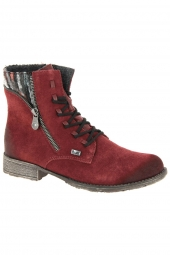 bottines fashion rieker 70840-35 bordeaux