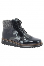 bottines fashion rieker y6323-15 bleu