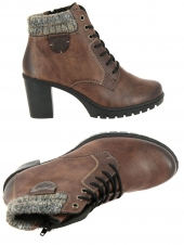 chaussures montantes fourrees rieker y2531-24 marron