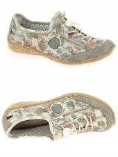 chaussures plates rieker n42v1-40 gris