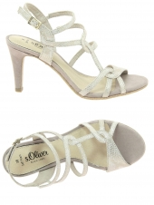 nu-pieds elegants s. oliver 28302-943 or/bronze