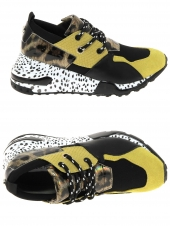 baskets mode steve madden cliff jaune