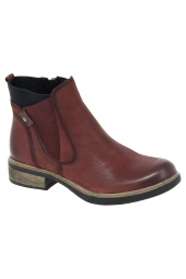bottines casual tamaris 25317-529 bordeaux