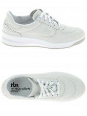 chaussures plates tbs brandy blanc