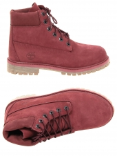boots timberland 6in premium wp bordeaux