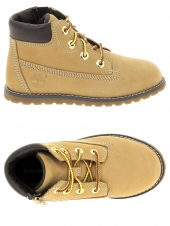 bottillons timberland pokey pine 6in boot with side jaune