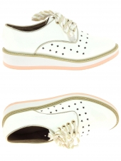 chaussures plates twopens pleoff-9 blanc