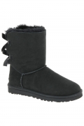 chaussures montantes fourrees ugg bailey bow ii noir