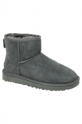 chaussures montantes fourrees ugg classic mini ii gris