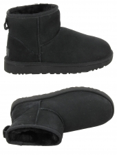 chaussures montantes fourrees ugg classic mini ii noir
