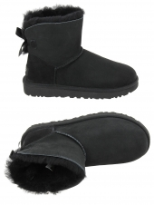 chaussures montantes fourrees ugg mini bailey bow noir