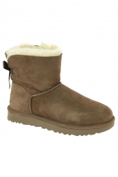 chaussures montantes fourrees ugg mini bailey bow beige