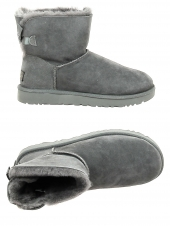 chaussures montantes fourrees ugg mini bailey bow gris