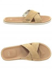 mules casual ugg beach marron
