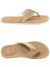 tongs ugg beach marron