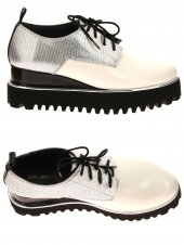 chaussures plates united nude juko pop blanc