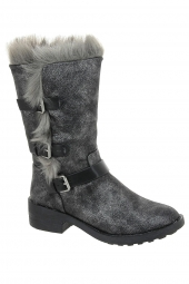 bottes fourrees vanessa wu bt1689an gris