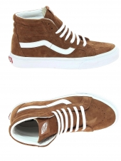 baskets mode vans sk8-hi reissue marron
