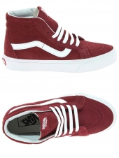baskets mode vans sk8-hi reissue rouge